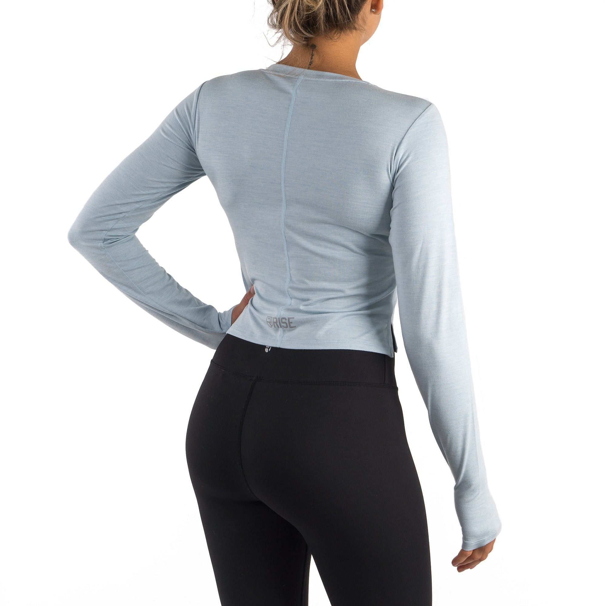 Softest Long Sleeve – Light Blue Marl