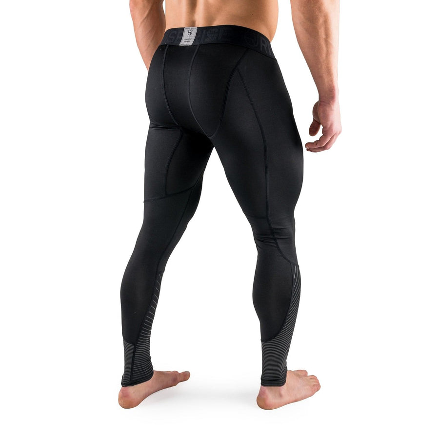 Active Dry Compression Pants - Black - Rise