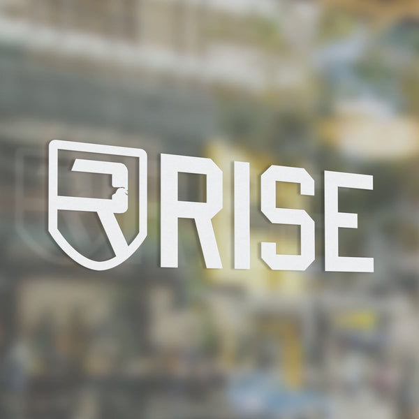 Rise Decal 3″ - White