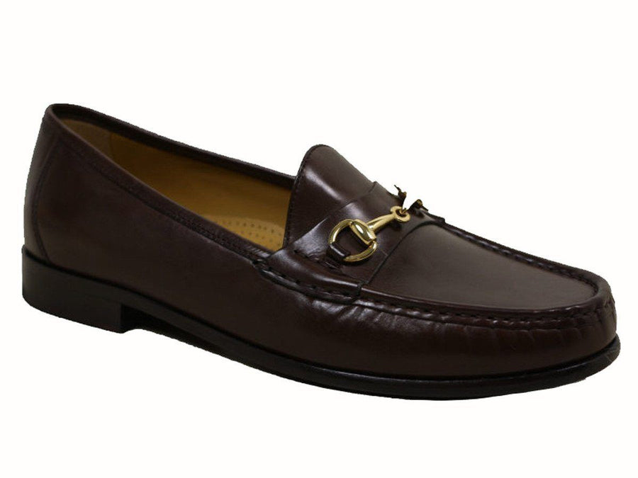 Cole Haan 10063 100% leather upper and leather sole with rubber insert Boy's Dress Shoe - Bit loafer - Brown, Gold Bit Ornament Boys Shoes Cole Haan