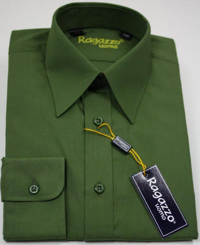 Boy's Dress Shirt 10109 Army Boys Dress Shirt Ragazzo