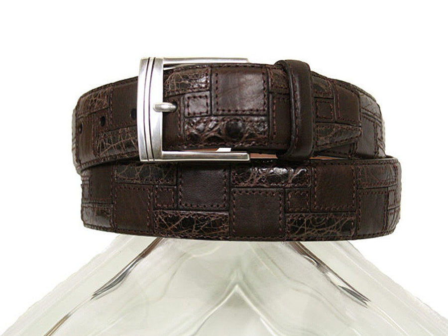 Brighton 10374 100% leather Boy's Belt - Patch leather - Brown, Silver Buckle Boys Belt Brighton