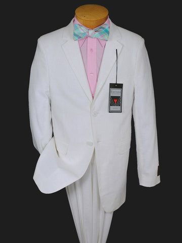 Image of Boy's Suit Separate Jacket 10458 White Linen Boys Suit Separate Jacket Europa