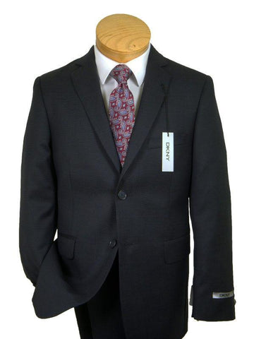 Image of DKNY 10807 100% Wool Boy's Suit Separate Jacket - Weave - Navy, 2-Button Single Breasted Boys Suit Separate Jacket DKNY