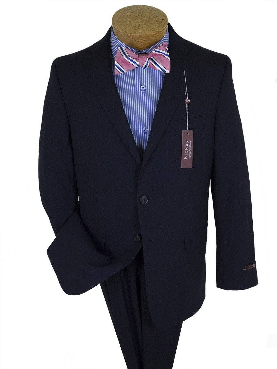 Hickey Freeman 10896 Navy Boy's Suit - Solid Gabardine - 98% Tropical Worsted Wool / 2% Elastane Boys Suit Hickey