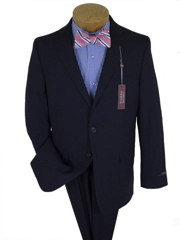 Image of Hickey Freeman 10896 Navy Boy's Suit - Solid Gabardine - 98% Tropical Worsted Wool / 2% Elastane Boys Suit Hickey