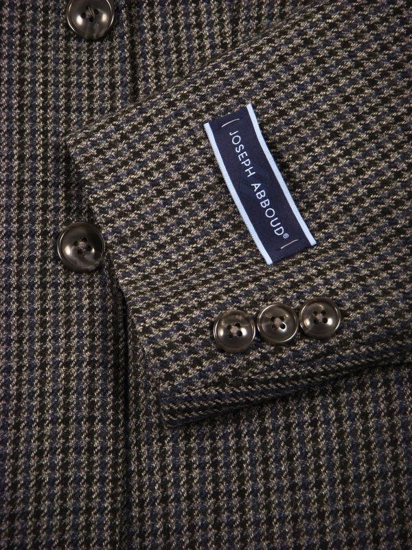Joseph Abboud 11036 100% Tropical Worsted Wool Boy's Sportcoat - Houndstooth - Gray / Black, 2-Button Single Breasted Boys Sport Coat Joseph Abboud