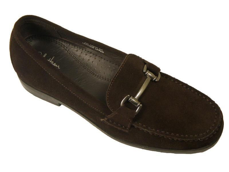 Cole Haan 11126 100% Leather Boy's Dress Shoes - Suede loafer - Brown, Slip-On Boys Shoes Cole Haan