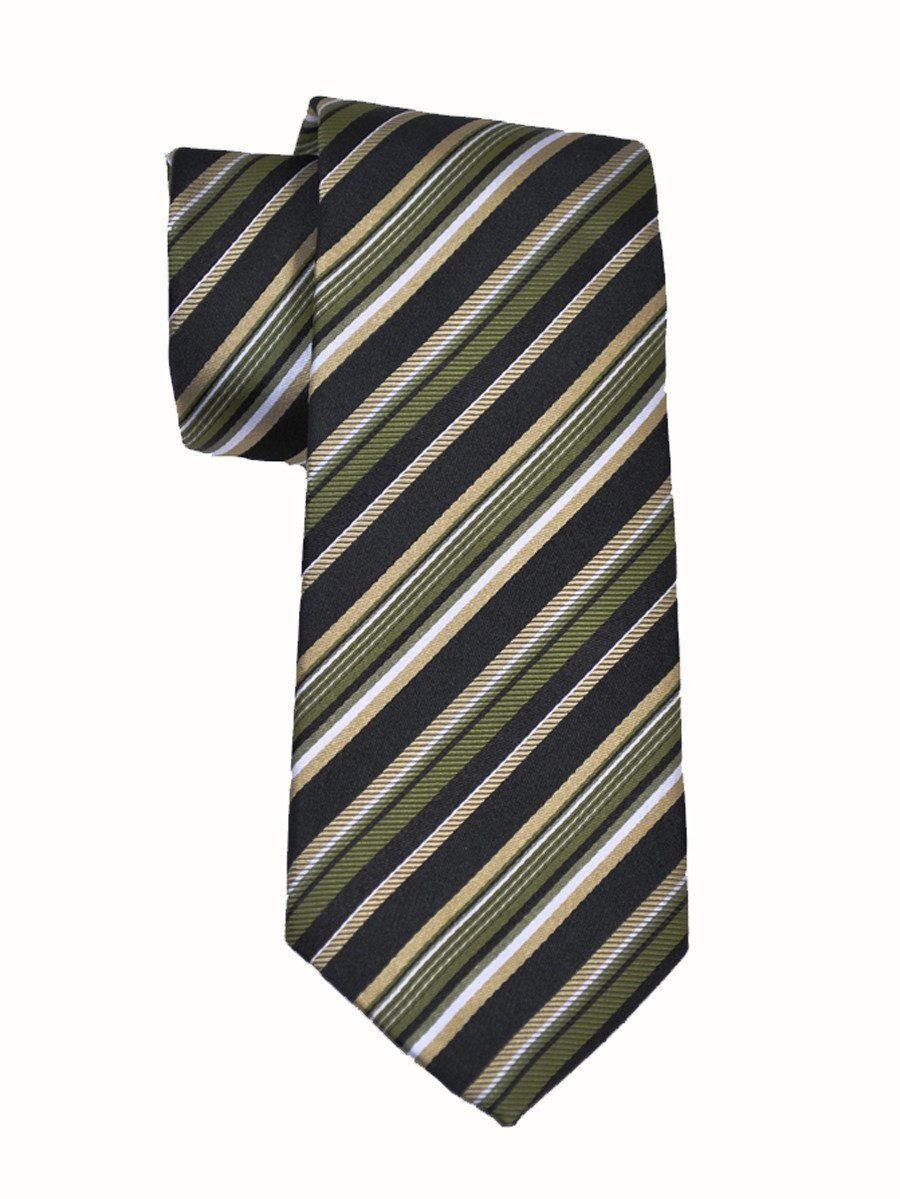 Boy's Tie 11440 Green/Black Boys Tie Heritage House