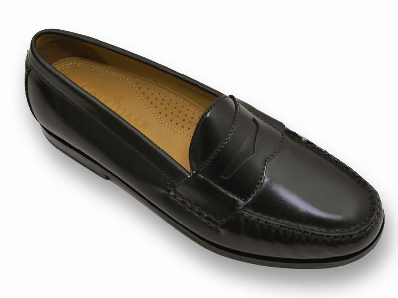 Cole Haan 11523 100% leather and full leather midsole Boy's Dress Shoes - Penny loafer - Black, Slip-On Boys Shoes Cole Haan
