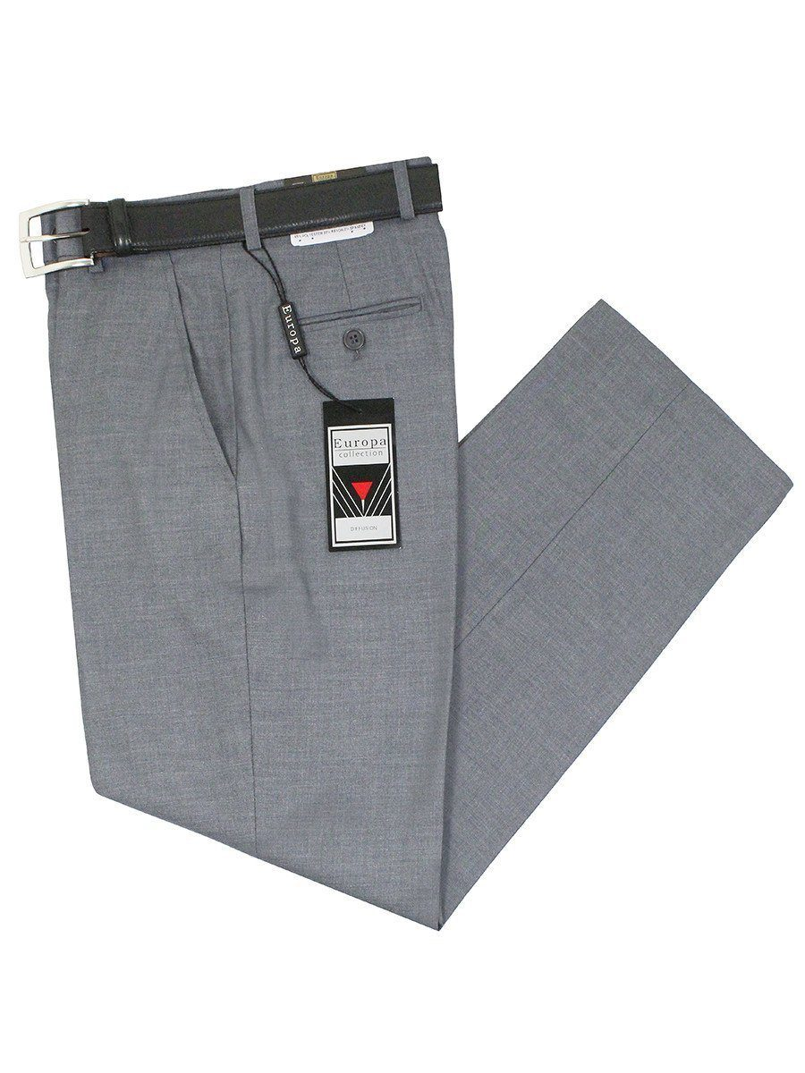 Europa 11759 Grey Boy's Dress Pants - Solid Gabardine - 65% Polyester / 33% Rayon / 2% Spandex from Boys Dress Pant Europa