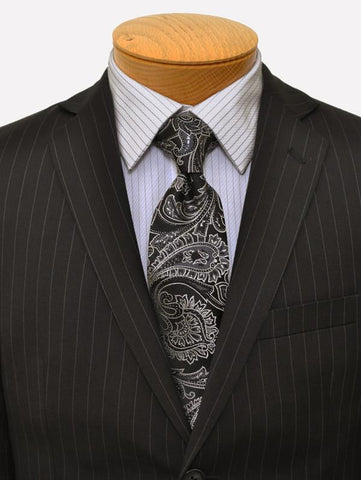 Image of DKNY 11816 Black Boy's Suit - Stripe - 70% Tropical Worsted Wool / 30% Polyester Boys Suit DKNY
