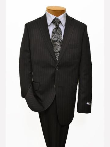 DKNY 11816 Black Boy's Suit - Stripe - 70% Tropical Worsted Wool / 30% Polyester Boys Suit DKNY