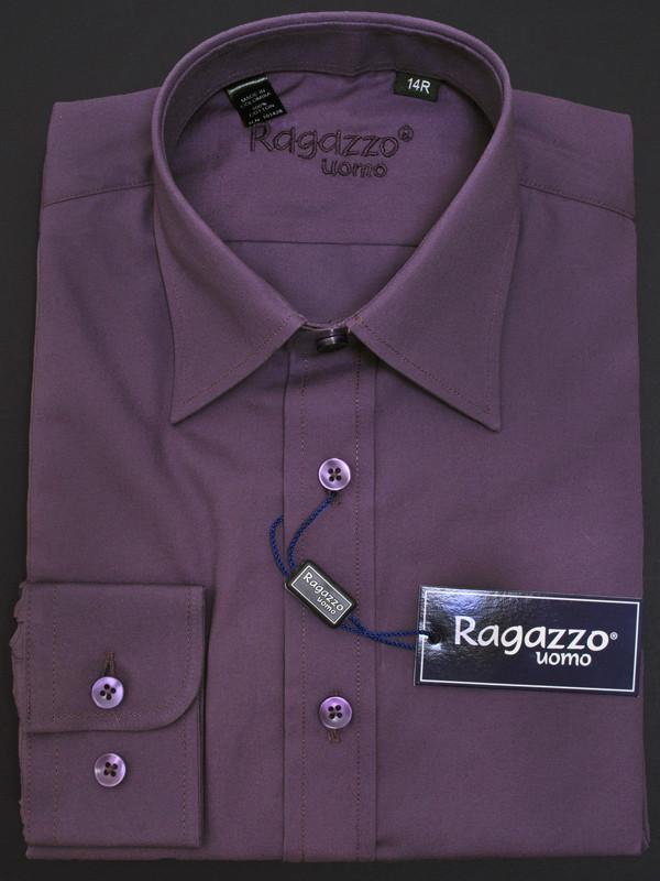 Boy's Dress Shirt 12509 Eggplant Boys Dress Shirt Ragazzo