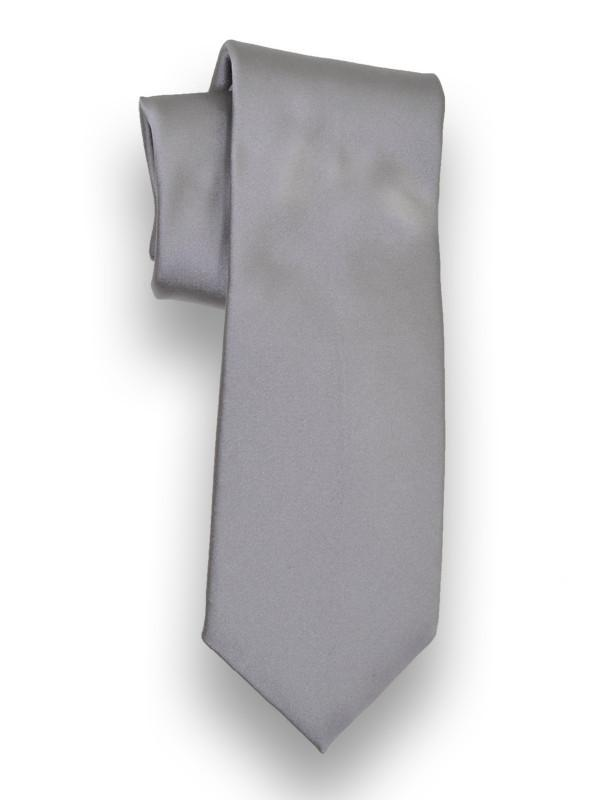 Heritage House 13203 100% Woven Silk Boy's Tie - Solid - Silver(11) Boys Tie Heritage House