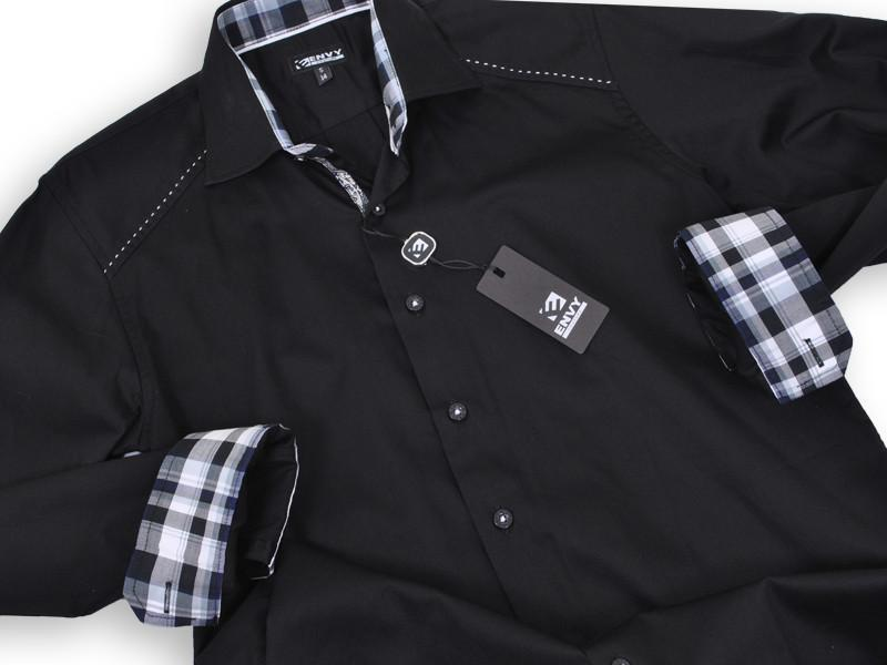 Boy's Sport Shirt 13327 Black Boys Sport Shirt Envy Couture