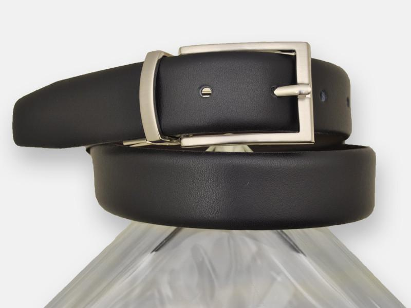 Paul Lawrence 13454 100% leather Boy's Belt - Smooth leather finish - Black / Brown, Silver Buckle and Keeper Boys Belt Paul Lawrence
