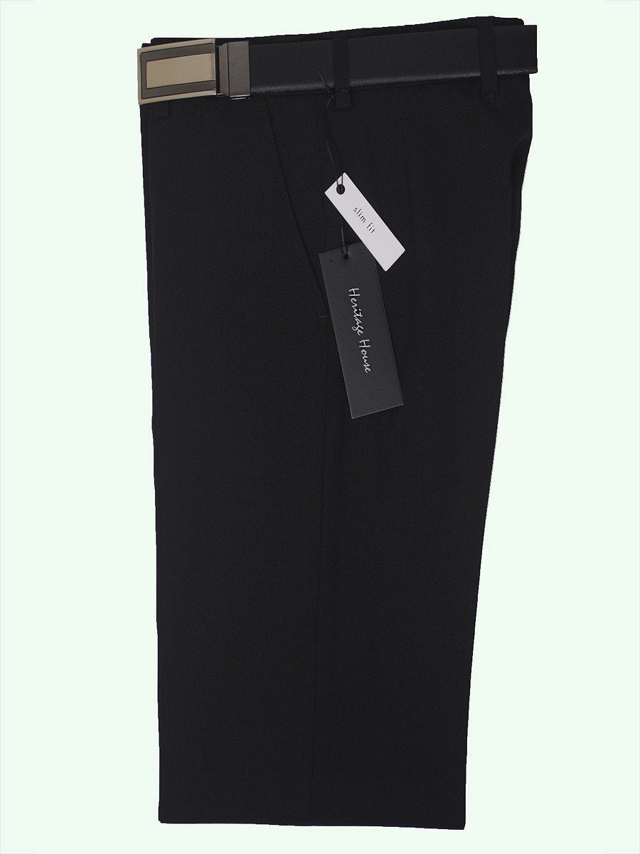 Boy's Dress Pant 13548 Black Contemporary Fit Boys Dress Pant Heritage House