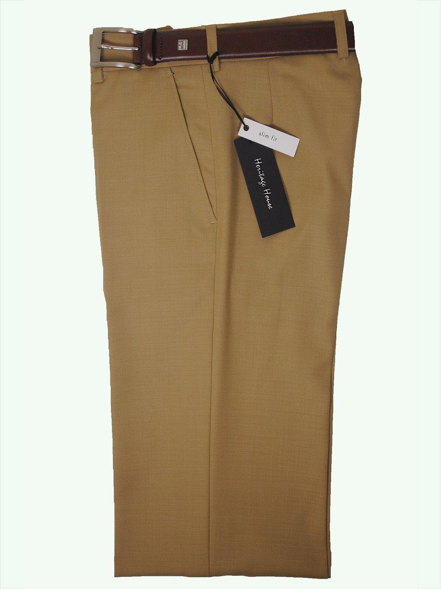 Boy's Dress Pant 13559 Camel Contemporary Fit Boys Dress Pant Heritage House