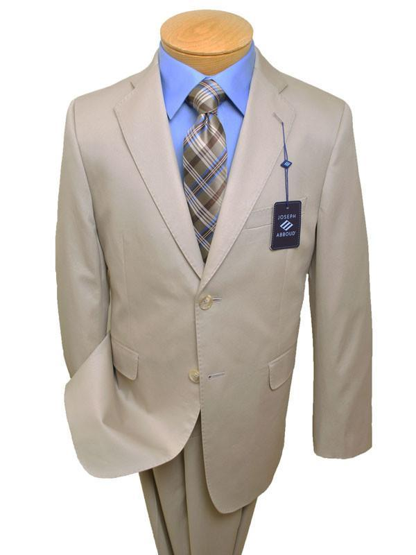 Joseph Abboud Boy's Suit 13643 Tan - Poplin - 100% Cotton Boys Suit Joseph Abboud