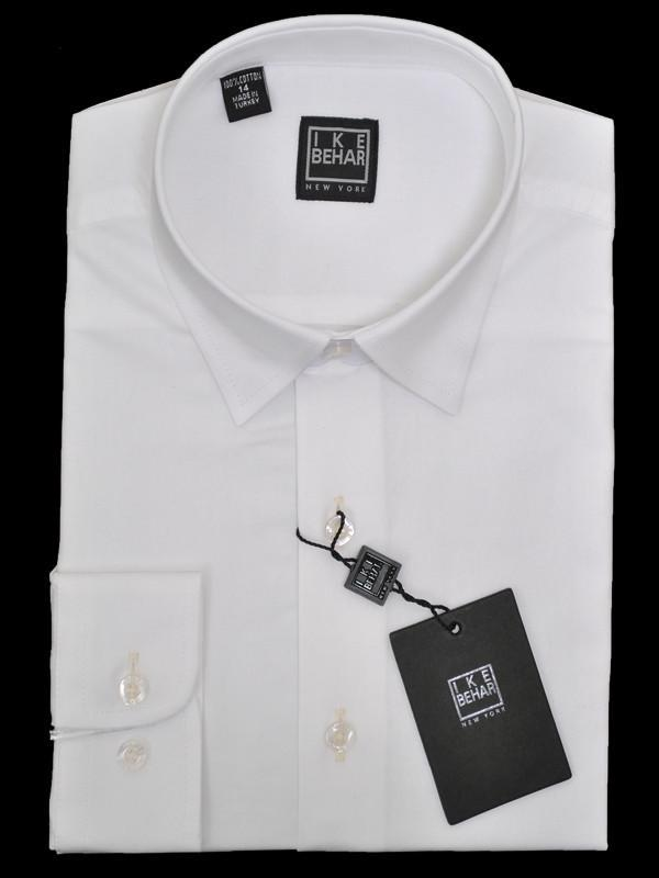 Boys' Dress Shirt | Ike Behar White | 13767 Boys Dress Shirt Ike Behar