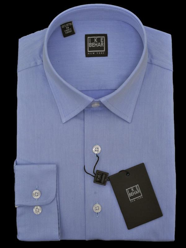 Boys' Dress Shirt | Ike Behar Blue | 13780 Boys Dress Shirt Ike Behar