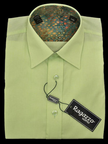 Boy's Dress Shirt 13815 Lime Check Boys Dress Shirt Ragazzo