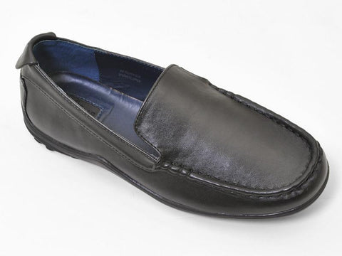 Cole Haan 13916 100% Leather Boy's Shoe - Driving Loafer - Black Boys Shoes Cole Haan