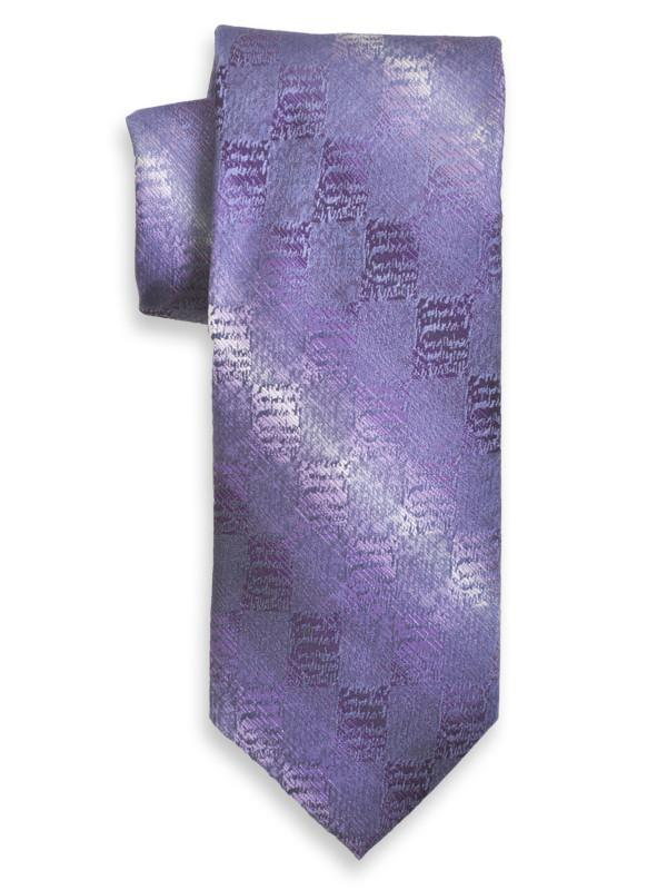 Heritage House 13983 100% Silk Boy's Tie - Neat - Blue / Purple Boys Tie Heritage House