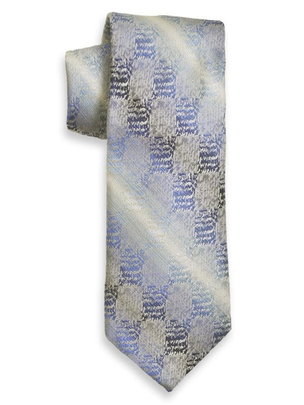 Heritage House 13984 100% Woven Silk Boy's Tie - Neat - Silver/Blue Boys Tie Heritage House