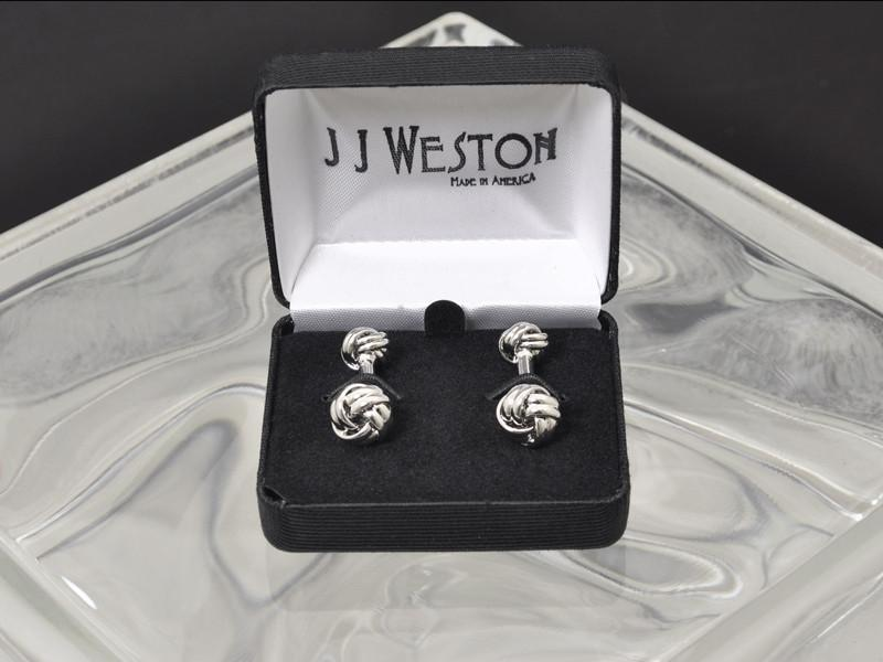 Boy's Cuff Links 14018 Silver Boys Cufflinks JJ Weston