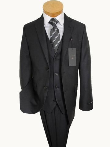 John Varvatos 14327 Charcoal Boy's Suit Separate Jacket - Solid Gabardine - 100% Tropical Worsted Wool Boys Suit Separate Jacket John Varvatos