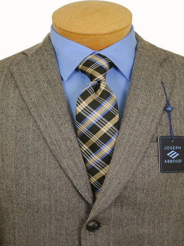 Image of Boy's Sportcoat 14395 Tan/Black Herringbone Boys Sport Coat Joseph Abboud