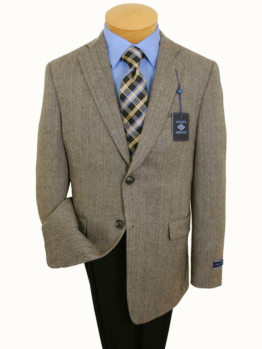 Boy's Sportcoat 14395 Tan/Black Herringbone Boys Sport Coat Joseph Abboud