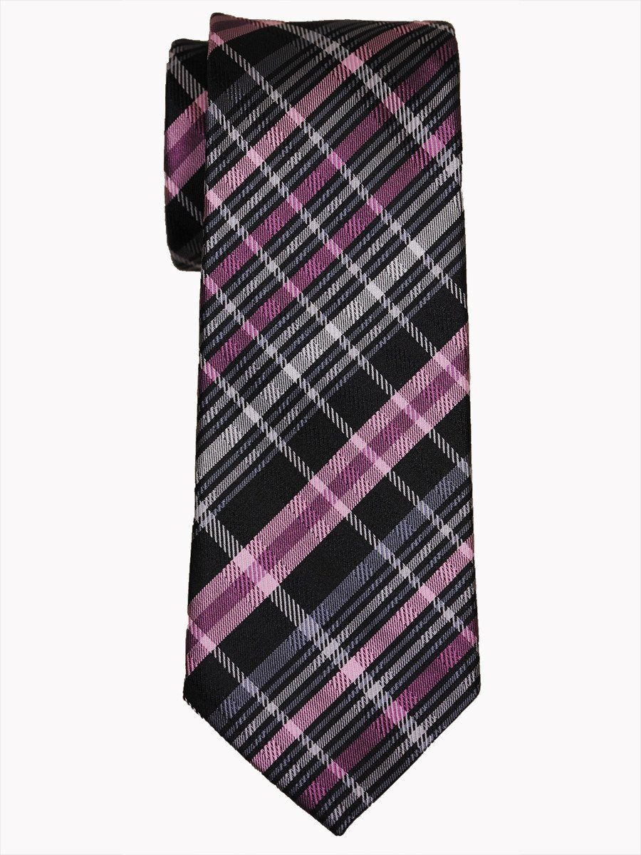 Boy's Tie 14473 Black/Pink/Grey Boys Tie Heritage House