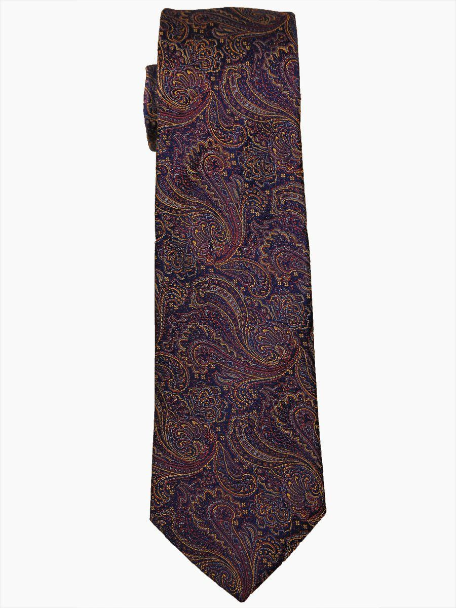 Heritage House 14487 100% Woven Silk Boy's Tie - Paisley - Navy/Gold Boys Tie Heritage House