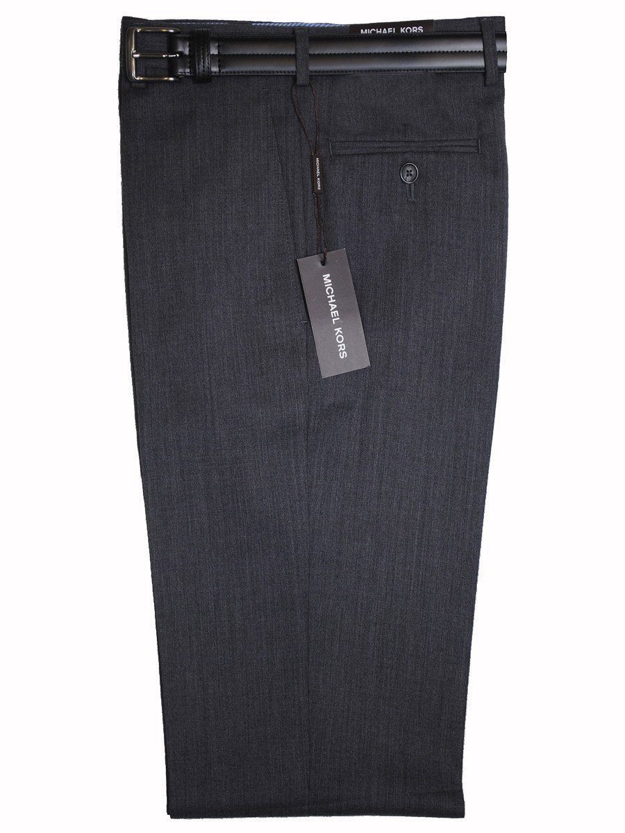 Michael Kors 1457 100% Tropical Worsted Wool Boy's Pant - Solid Gabardine - Medium Grey, Plain Front Boys Dress Pant Michael Kors