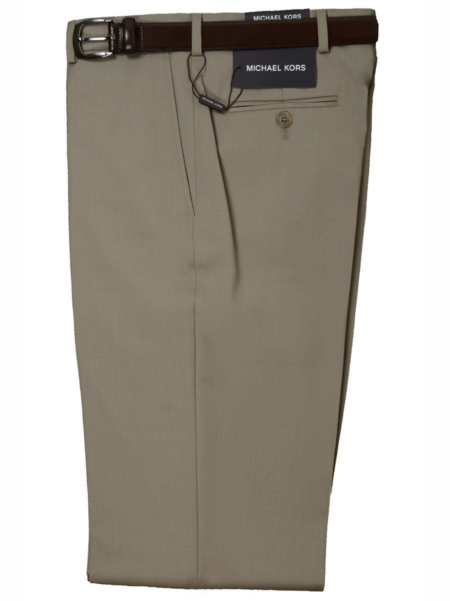 Michael Kors 1461 100% Tropical Worsted Wool Boy's Pant - Solid Gabardine - Tan, Plain Front Boys Dress Pant Michael Kors