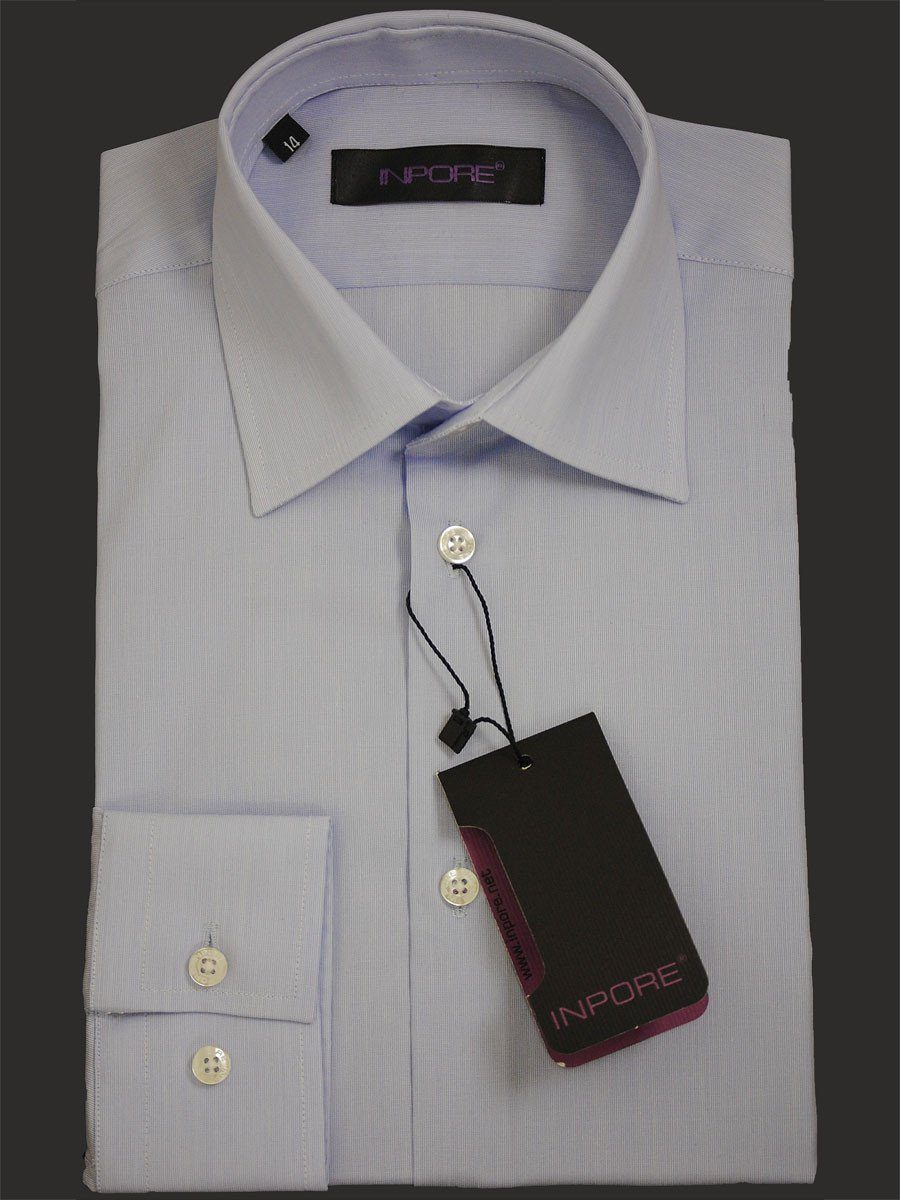 Inpore Boy's Dress Shirt 14910 Purple Blue Boys Dress Shirt Inpore