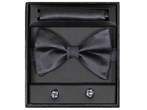 Boy's Bow Tie Box Set 14923 Charcoal Boys Bow Tie Giorgio Bissoni