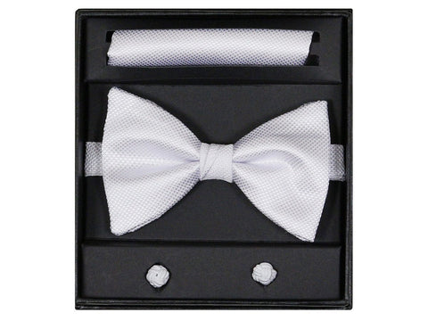 Boy's Bow Tie Box Set 14925 White Boys Bow Tie Giorgio Bissoni