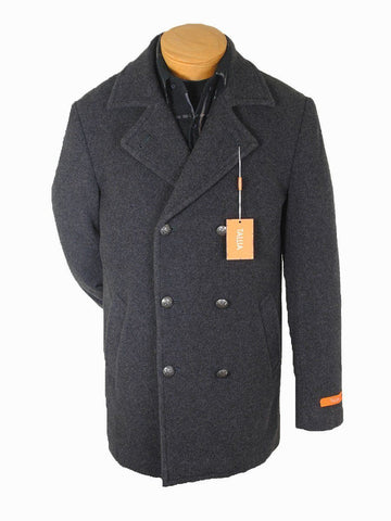 Image of Boy's Outerwear 15246 Charcoal Peacoat Boys Overcoat Tallia