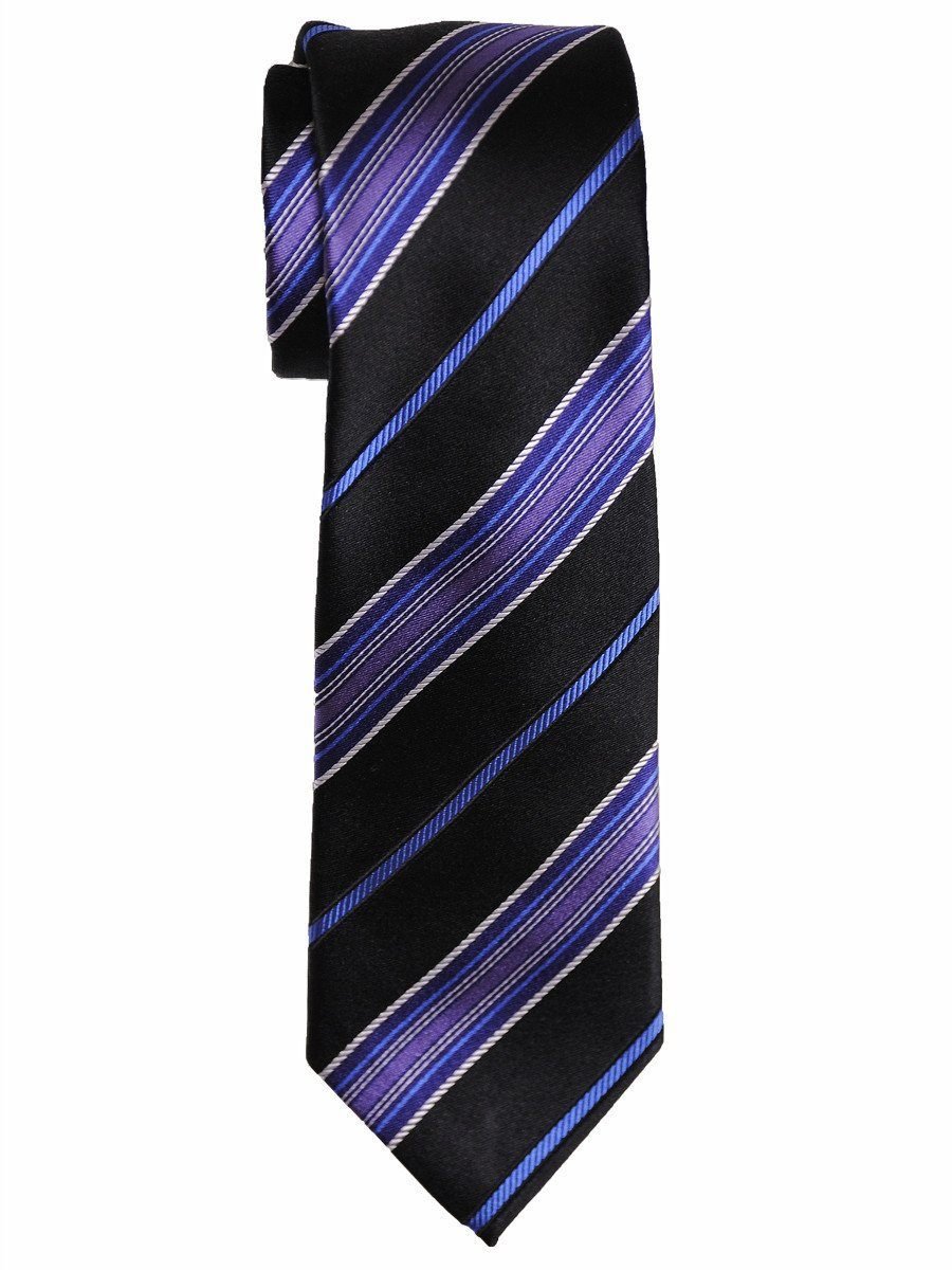 Boy's Tie 15367 Black/Purple/Blue Boys Tie Heritage House