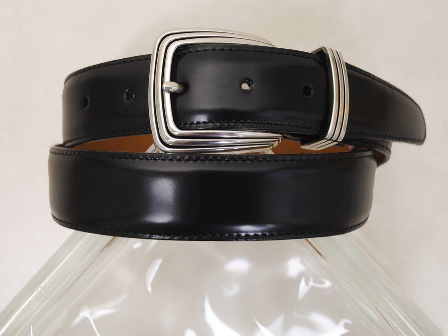 Brighton 15721 Imported Italian calfskin Boy's Belt - Smooth leather finish - Black, Brush Off Finish Boys Belt Brighton