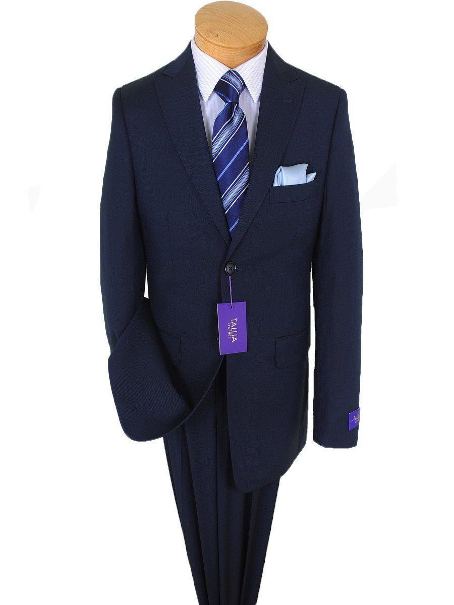 Tallia Purple 15835 73% Polyester / 27% Rayon Boy's 2-Piece Suit - Fine Line - 2-Button Single Breasted Jacket, Plain Front Pant Boys Suit Tallia
