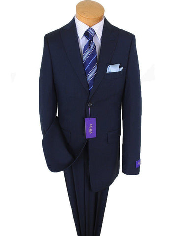 Image of Tallia Purple 15835 73% Polyester / 27% Rayon Boy's 2-Piece Suit - Fine Line - 2-Button Single Breasted Jacket, Plain Front Pant Boys Suit Tallia