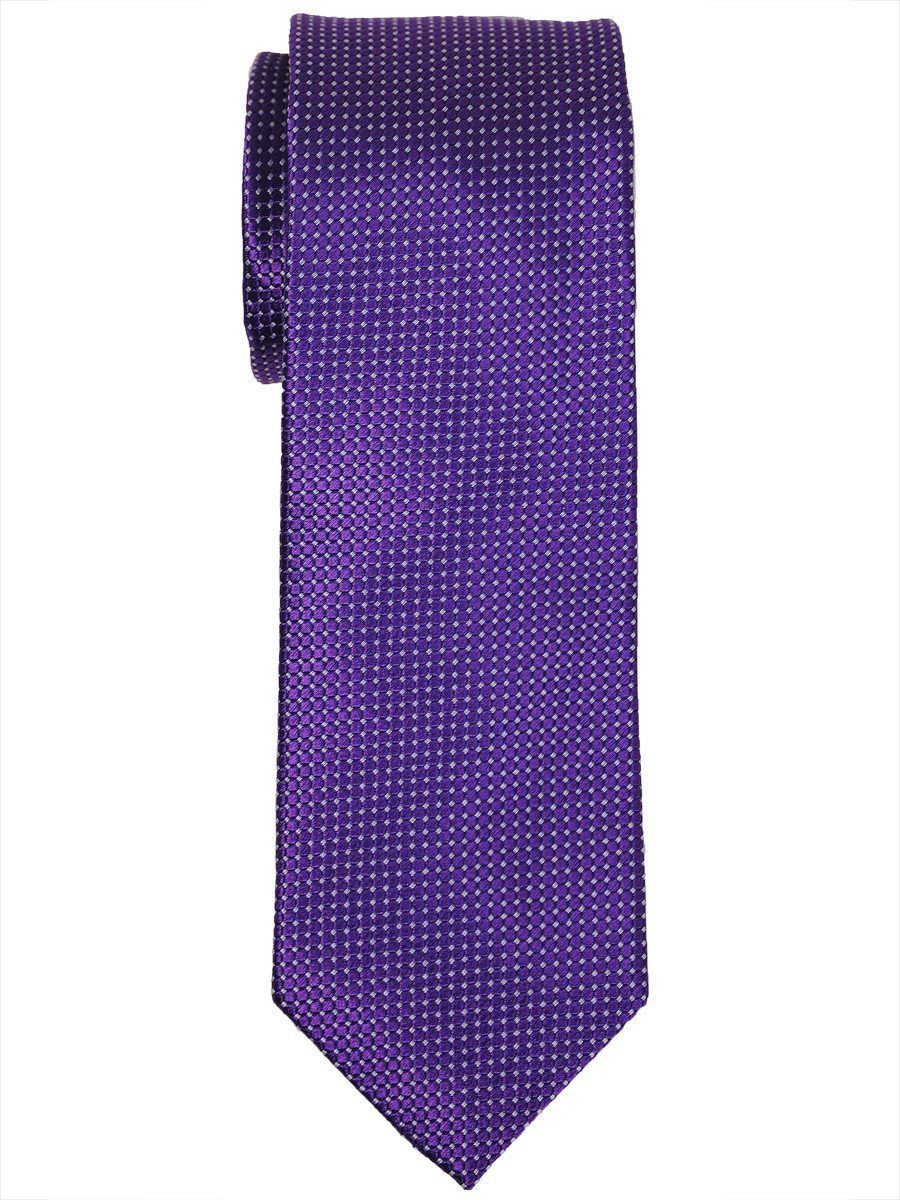 Heritage House 16018 100% Woven Silk Boy's Tie - Neat - Purple Boys Tie Heritage House