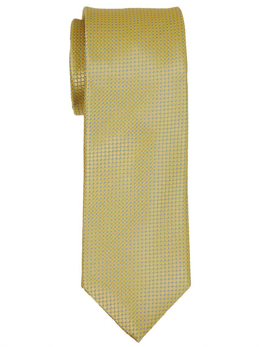 Heritage House 16019 100% Woven Silk Boy's Tie - Neat - Yellow Boys Tie Heritage House
