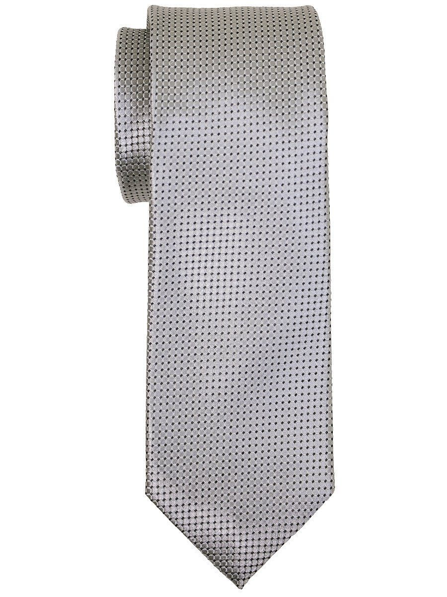 Heritage House 16021 100% Woven Silk Boy's Tie - Neat - Silver Boys Tie Heritage House