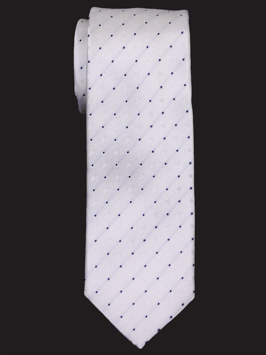 Heritage House 16035 100% Woven Silk Boy's Tie - Neat - White/Black Boys Tie Heritage House